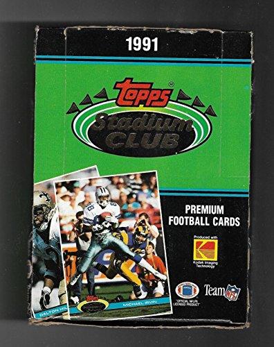 1991 TOPPS STADIUM CLUB FOOTBALL BOX BRETT FARVE ROOKIE PLUS 50 HALL OF FAMERS