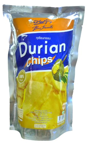 Thai Snack (Bee Fruits-Durian Chips, Thai Snack 2.3 Ounce Bag)