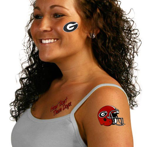 Wincraft NCAA University of Georgia Tattoos, Black -