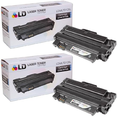 (LD 2 Compatible Laser Toners for The Samsung MLT-D105L for ML-1910, ML-1915, ML-2525, ML-2545, ML-2580n, SCX-4600, SCX-4623 Series, SF-650, SF-650P Printers)