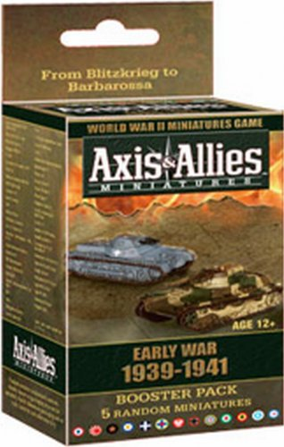 Wizards of the Coast Axis and Allies Miniatures Early War 1939 - 1941 Booster Board Game Expansion (Allies Miniatures Axis And)