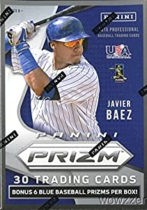 2015 Panini Prizm MLB Baseball EXCLUSIVE Factory Sealed Retail Box with Bonus BLUE PRIZM REFRACTOR Pack ! Look for Awesome Prizms,RC's & Autographs ! Look for KRIS BRYANT and Javier Baez Autographs!