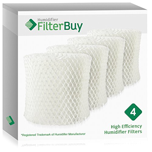 FilterBuy Honeywell HC888 Replacement Filters. Compatible with Honeywell Filter C. Designed to fit Honeywell HCM-890 & Duracraft DH888, DCM200 & DH890. Pack of 4. by FilterBuy