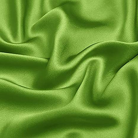 Fabric By The Yard Tangerine Stretch Silk Charmeuse