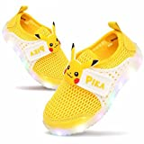 Pokemon Pikachu Boys LED Light up Summer Mesh Sneaker Shoes (Parallel Import/Generic Product) (11 M US Little Kid)
