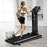 1.5HP LED Compact Folding Treadmill Exercise Fitness Running Machine w/USB MP3 Black