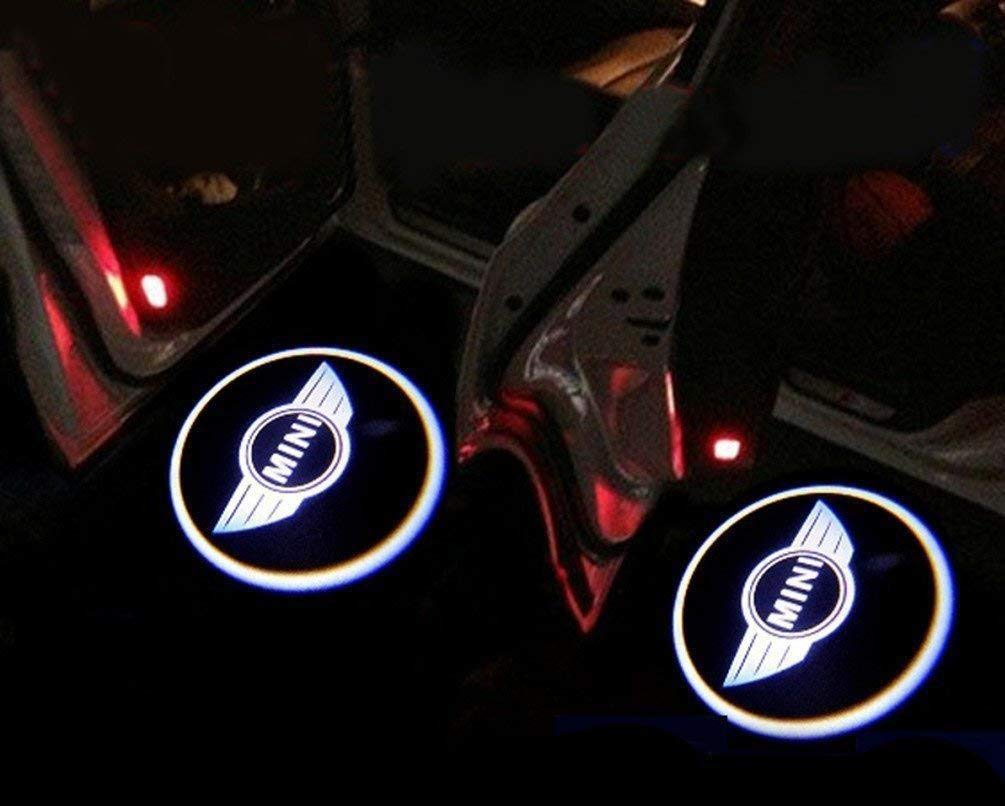 Mustang BLUE HORSE logo Car Projector Logo Lamps Kit for all Cars 2PCS Universal Wireless Car Door Projector Lights Wireless Car Projection Led Welcome Light