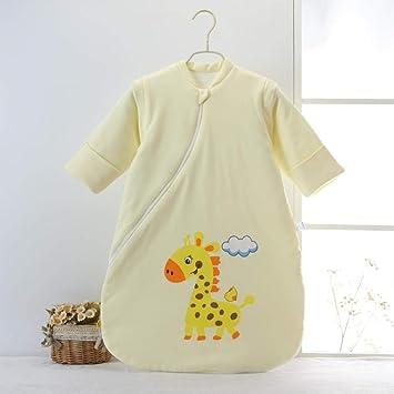 Edredón anti-patada de algodón infantil saco de dormir de hongos para niños 0-36 meses pijama cálido-amarillo_75cm bebé sacos de dormir para niños: Amazon.es: Bebé
