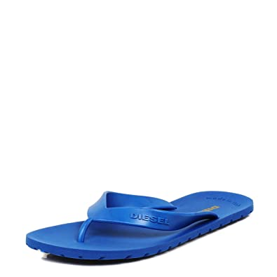 9828bd8aac2f Diesel Mens Splish Nautical Blue Flip Flops-UK 10  Amazon.co.uk  Shoes    Bags