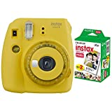 Photo : Fujifilm instax Mini 9 Instant Camera (Yellow) with Film Pack (20 Sheets) Bundle (2 Items)