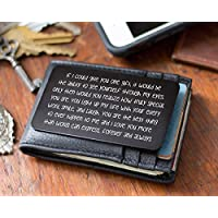 Engraved Valentine's Day Card for His Wallet - Metal Wallet Card Love Note. Perfect Anniversary Gifts for Men or Women! Husband, Wife, Boyfriend, Birthday, Christmas, Deployment and More. Made in USA