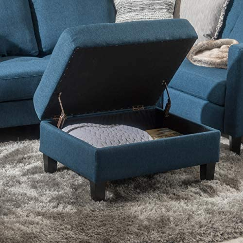 Christopher Knight Home Zahra Fabric Storage Ottoman