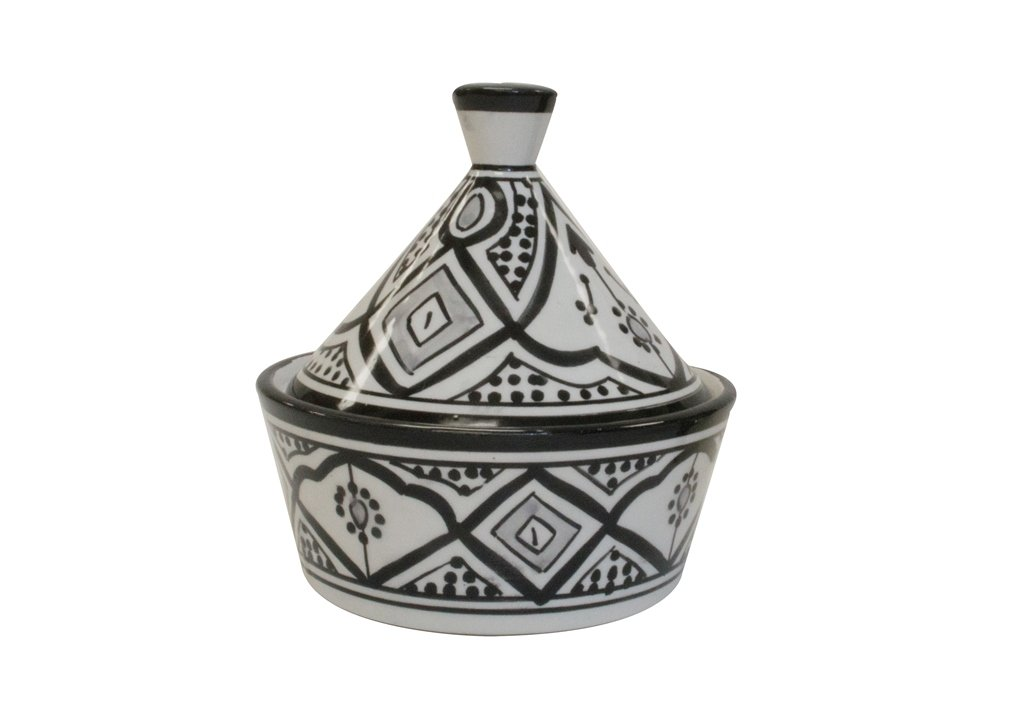Casablanca Market TC00019 Serving Tagines Moroccan, Black and White