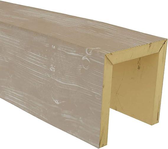 Walnut Stain Finish Ekena Millwork BMHHWA-MAT-SAMPLE 6W x 6H Hand Hewn Endurathane Faux Wood Ceiling Beam Material Sample