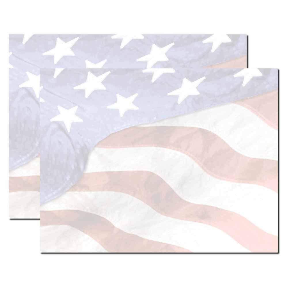 Blank Designer Trifold Brochure, 32lb Stock (100 Pack) (Grand Old Flag)