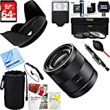 Sony Carl Zeiss 24mm f/1.8 E-Mount Lens (SEL24F18Z) + 64GB Ultimate Filter & Flash Photography Bundle