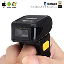 Sherosa Wearable Ring 2D Barcode Scanner Mini Bluetooth Bar code Reader For Andriod/IOS/Tablet PC