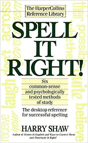 Amazon com: Spell It Right! The Desktop Reference for