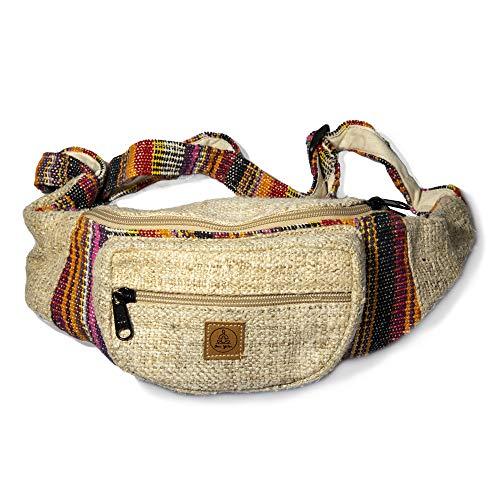- Festival Hemp Fanny Pack - Men & Women Hip Money Belt For Travel & Hiking - Waist Bag With Adjustable Belt For Men & Women - Hippy/Sling/Stylish 80s/Stripe Boho Fanny Pack