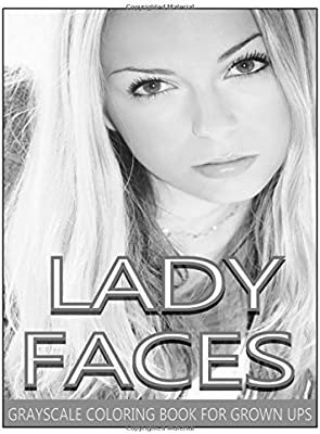 Lady Faces Grayscale Coloring Book For Grown Ups Vol2 Adult Books Photo