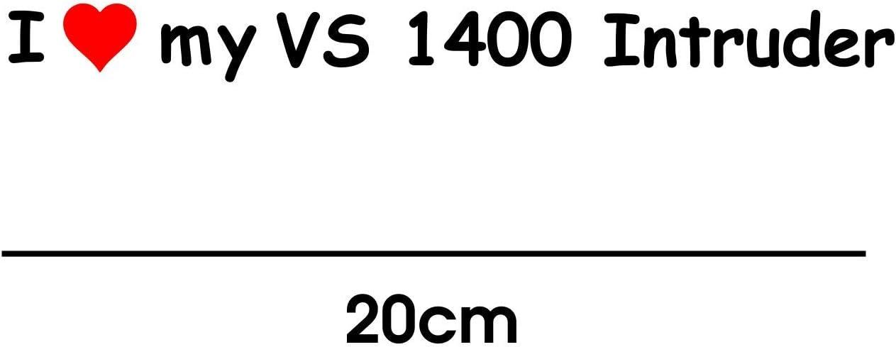 myrockshirt I Love My Suzuki VS 1400 Intruder 20cm Aufkleber f/ür Motorrad Bike Roller Mofa Sticker Decal Tuningaufkleber Tuning