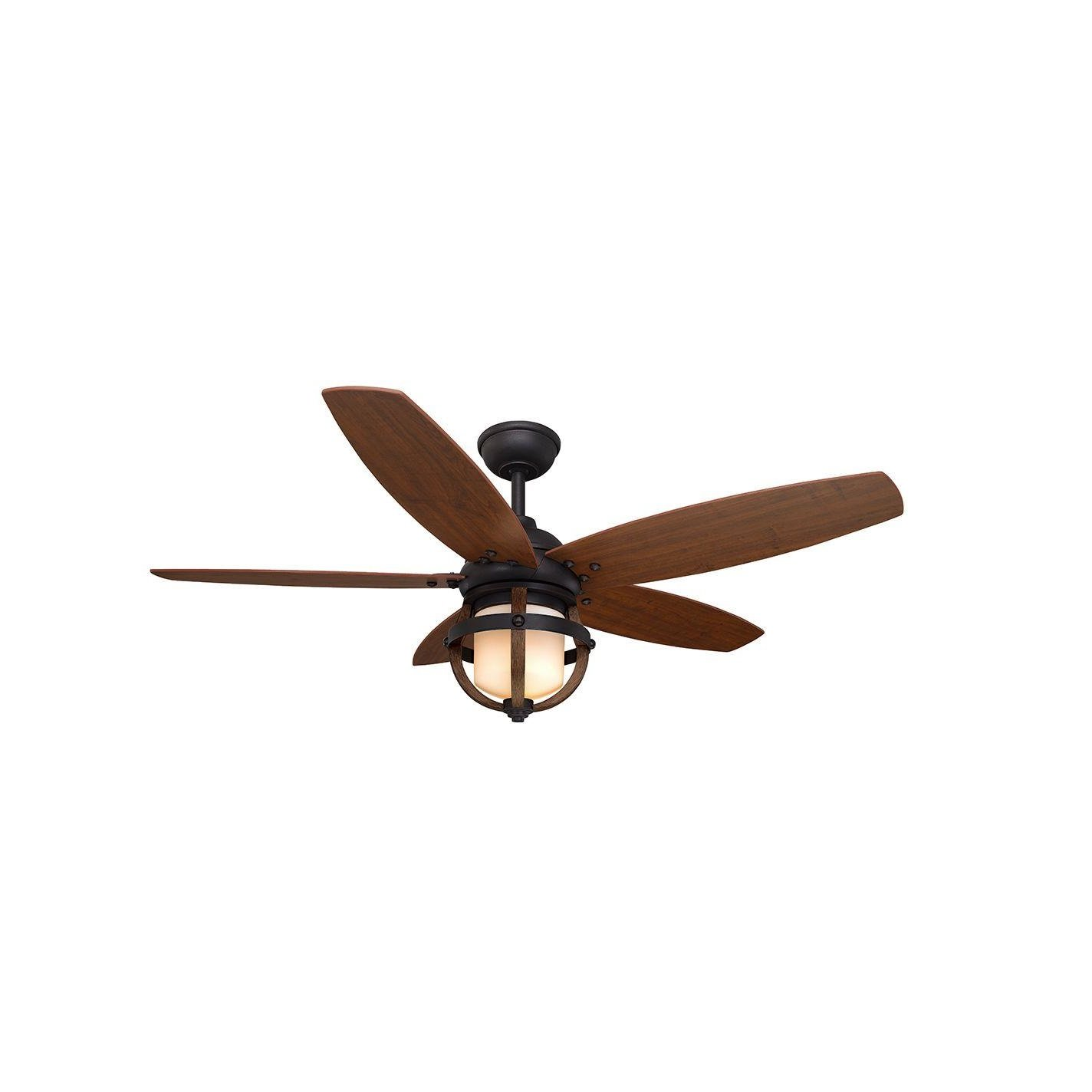 Home Decorators Collection Noah 52 in. Forged Iron Ceiling Fan