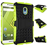 MOONCASE Moto X Play Case Detachable 2 in 1 Hybrid Armor Design Shockproof Tough Rugged Dual-Layer Case Cover with Built-in Kickstand for Motorola Moto X Play Green