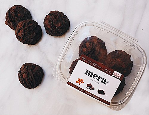 Double Chocolate Vegan Brownie Cookie - Fresh Baked to Order - One Dozen: Gluten-free, grain-free, dairy-free, preservative-free, GMO-free, egg-free, All Natural Healthy Real Food Ingredients.
