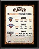 "San Francisco Giants Three Titles in Five Years 10.5"" x 13"" Sublimated Plaque - MLB Team Plaques and Collages"