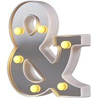 Luces de letras de marquesina LED 26 letras del alfabeto iluminado Letrero perfecto para luz nocturna Boda Fiesta de…
