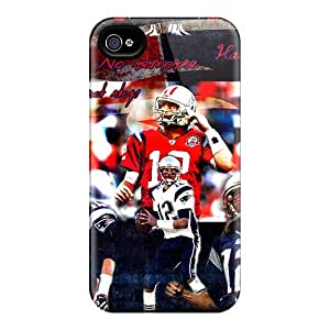 Scratch Protection Cell-phone Hard Cover For Iphone 4/4s With Allow Personal Design High-definition New England Patriots Pictures VIVIENRowland