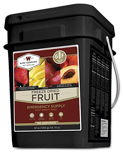 Wise Foods Gluten Free Freeze Dried Fruit 156 Servings (Wise Company Emergency Food Variety Pack 104 Serving)