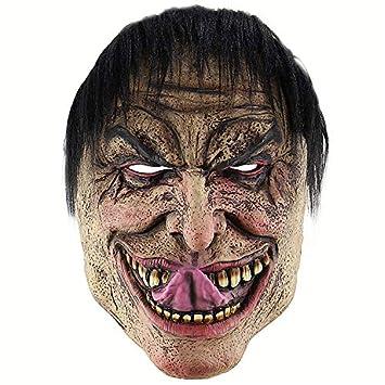 KYX-GAOMOUREN Peluca De Máscara De Payaso De Halloween Máscara De Hombre Horrible Horrorosa Máscara