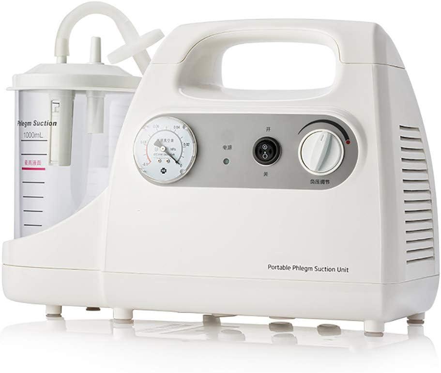 BZZBZZ Unidad de Dispositivo de Bomba de lubricación eléctrica sin Aceite, Bomba de succión de flema portátil de bajo Ruido con Tubo: proteja la mucosa laríngea del Paciente del daño