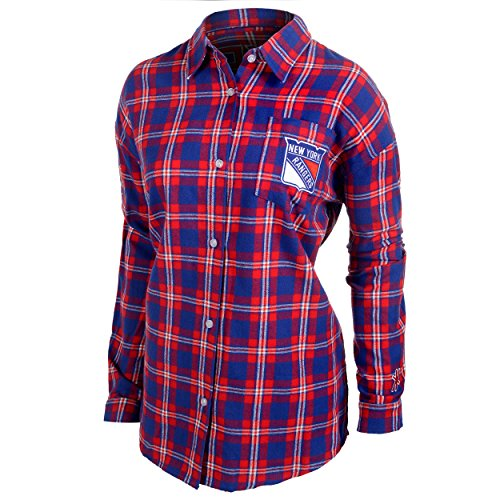 (New York Rangers Womens Wordmark Basic Flannel Shirt Medium)