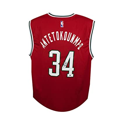 competitive price ee400 93f34 Giannis Antetokounmpo Autographed Milwaukee Bucks Authentic ...