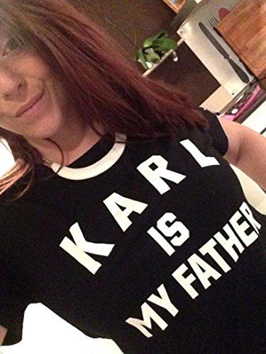 Oyedens Neue Karl Ist Mein Vater Frauen Buchstabedruckes T-Shirt Baumwolle BeiläUfige Bluse