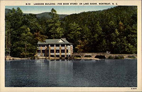 Lakeside Building The Book Store on Lake Susan Montreat, North Carolina Original Vintage - Lakeside Stores