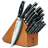 J.A. Henckels International Forged Premio 19-piece Knife Set with Cherry Block