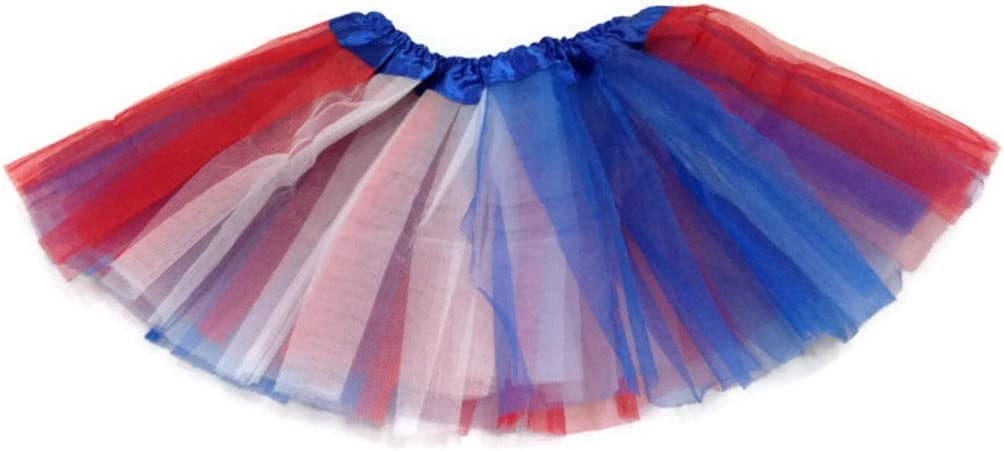 Rush Dance Colorful Ballerina Baby Dress-Up Princess Costume Recital Tutu Infant 0-3 Years, Red//Blue//White Patriotic