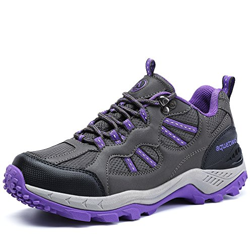AQUATWO Women's PU Hiking Shoes Waterproof Trekking Shoes