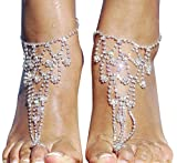 Bellady Women's Lady's 2 Piece Barefoot Sandals Toe Ring Anklets Wedding Beach Jewelry