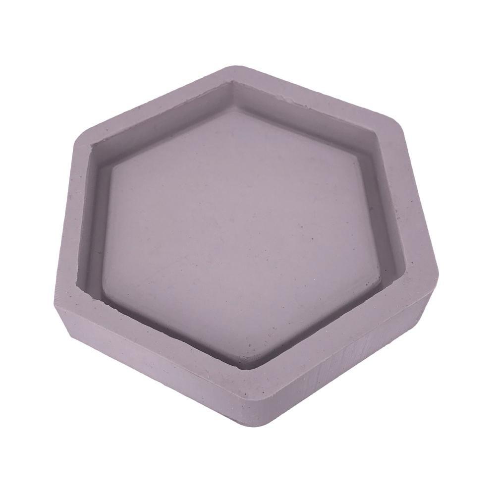 Gereton hexagonal en forma de molde de silicona moldes de maceta de cemento decoración del hogar concreto maceta paleta color al azar