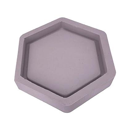 Futurelast Molde de silicona con forma de hexágono para maceta de cemento o decoración del hogar