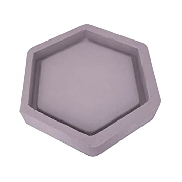 Macetero de silicona hexagonal con forma de cemento moldeado para maceta o maceta de hormigón