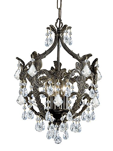 Traditional Classic Crystal Chandelier in English Bronze - Traditional Chandelette