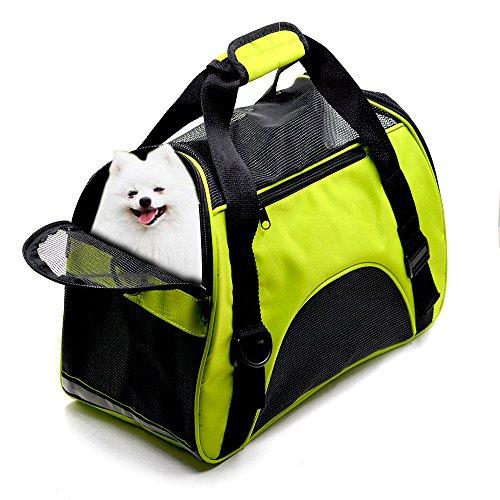 [해외]애완 동물 운송업자 개 고양이 부드러운 양면 항공 승인 작은 강아지 여행용 가방/Pet Carrier Dog Cat Soft Sided Airline Approved Small Puppy Travel Bag
