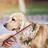 Pet Grooming Comb Coarse and Fine Double-end Pet Comb - Pet Slicker Brush, Easy to use pet Deshedding Tool for Dog Cat Pet by Decdeal