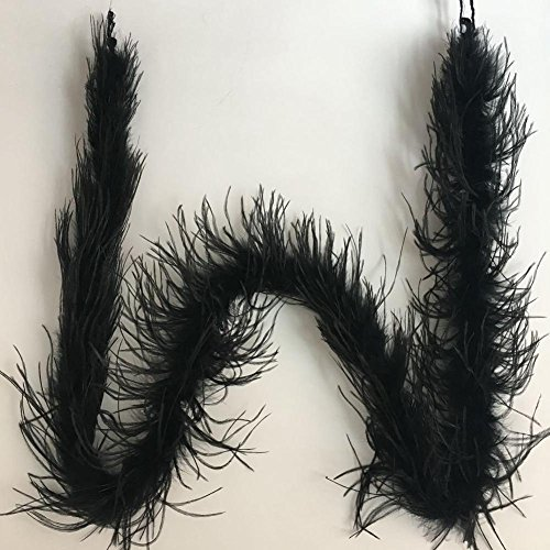 KOLIGHT Pack of 2 Yards Dyed Ostrich Feather Boa Scarf DIY Home Wedding Party Office Clothing Accessories Decoration (Black) -