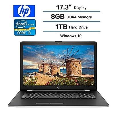"2018 Newest Flagship HP 17 Laptop 17.3"" Diagonal HD (1600x900), Intel Core i3-7100U Processor (Up to 2.9 GHZ), 8GB DDR4 SDRAM Memory, 1TB 5400RPM Serial ATA, Intel HD Graphics 520, Window 10 Home"